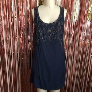 Blue Beaded Dress